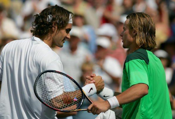 Federer beats Hewitt in the 2005 Indian Wells final