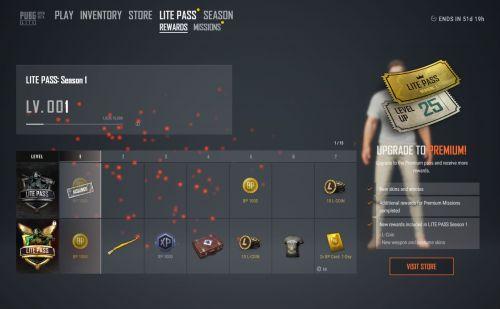 Lite Pass rewards