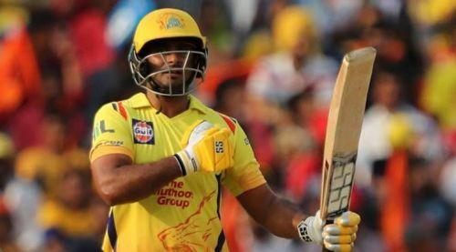 Ambati Rayudu playing for Chennai Super Kings