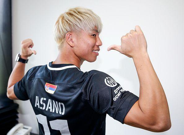 Partizan Belgrade unveil new signing Takuma Asano