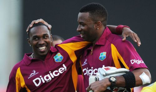 Dwayne Bravo (L) and Kieron Pollard (R) will be leading the two sides