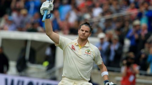 Steve Smith walks off after a superb Ashes innings