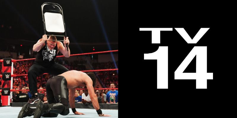Seth Rollins and Brock Lesnar's title match could get graphic thanks to the TV-14 rating.