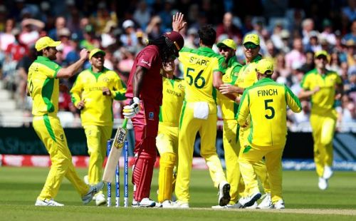 Chris Gayle's wicket eventually cost the West Indies as Australia managed to edge them out by a margin of 15 runs