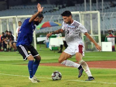 Gurjinder Kumar getting forward from left back position