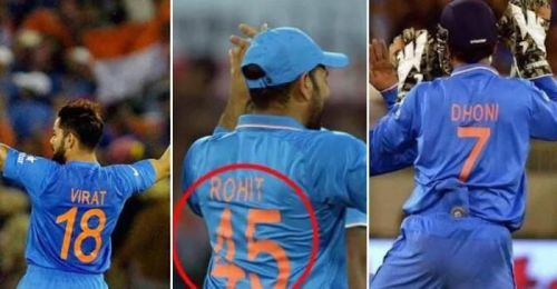 interesting facts about Indian cricketers jersey numbers