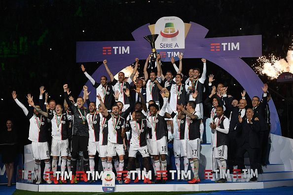 Juventus celebrate their 35th Serie A title in 2018/19
