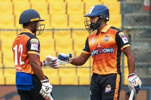 KB Pawan (R) scored a fluent half-century for the Tigers