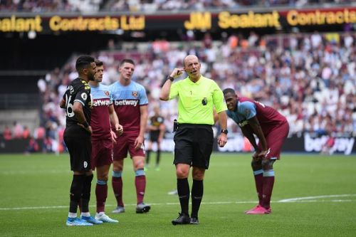Declan Rice was penalized for encroachment and Aguero was allowed to retake the penalty: VAR