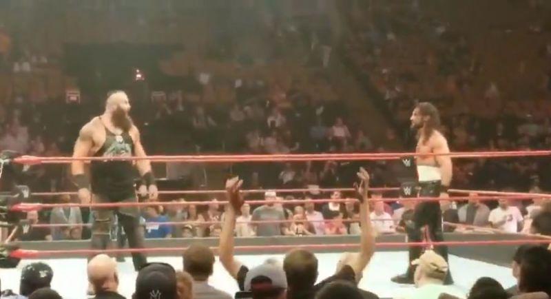 Braun Strowman and Seth Rollins.