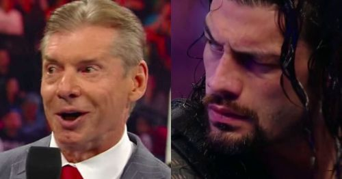 Vince McMahon and Roman Reigns