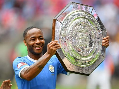 Raheem Sterling helped City win the FA Community Shield.