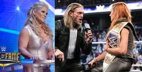 WWE Hall of Famer Beth Phoenix opened up on the Twitter war between Edge and Becky Lynch