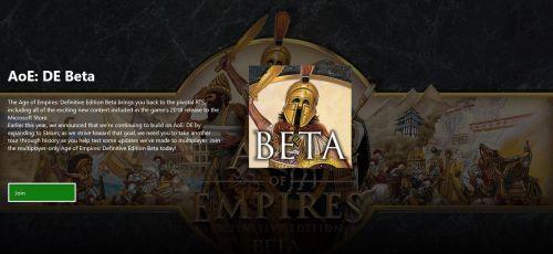 AOE definitive edition beta