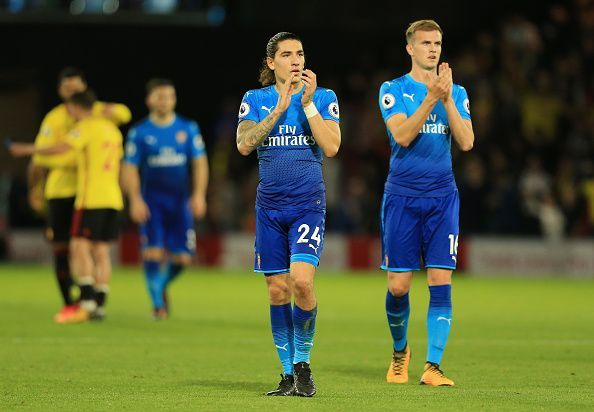 Hector Bellerin and Rob Holding are back in full training