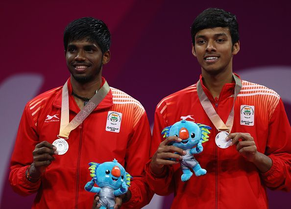 Satwiksairaj Rankireddy (left) and Chirag Shetty