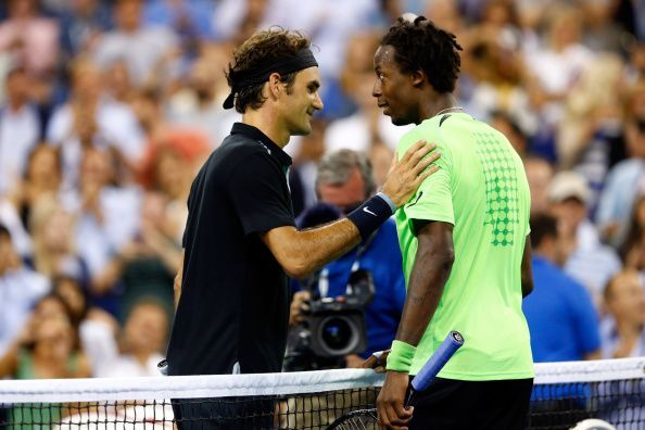 Federer beats Monfils in the 2014 US Open quarterfinals