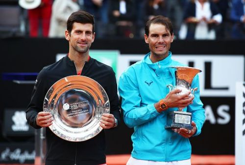 Nadal celebrates his record 34th Masters 1000 title by beating Djokovic in the 2019 Rome final