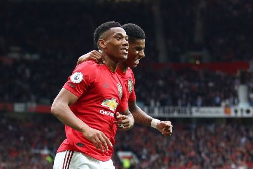 Marcus Rashford and Anthony Martial both scored on the night