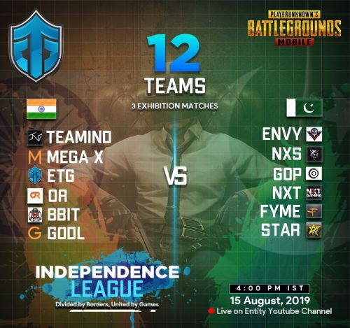Teams in the PUBG Mobile Independence League