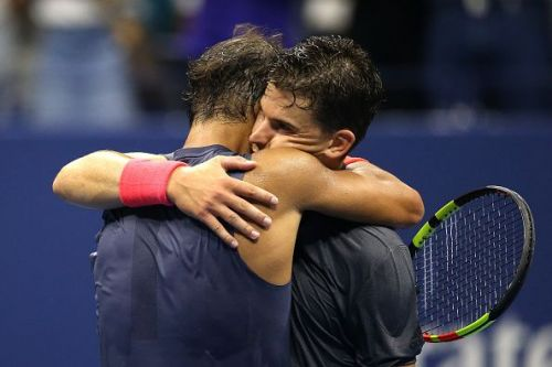 2018 US Open - Nadal and Thiem embrace after their epic battle