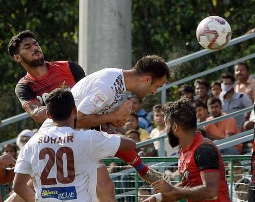 Mohun Bagan's Fran Morante in action during the match against ATK
