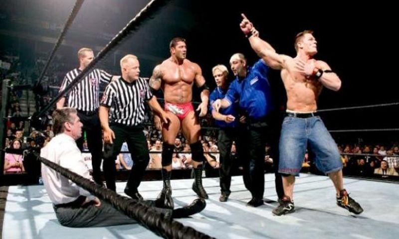 Vince restarts the match