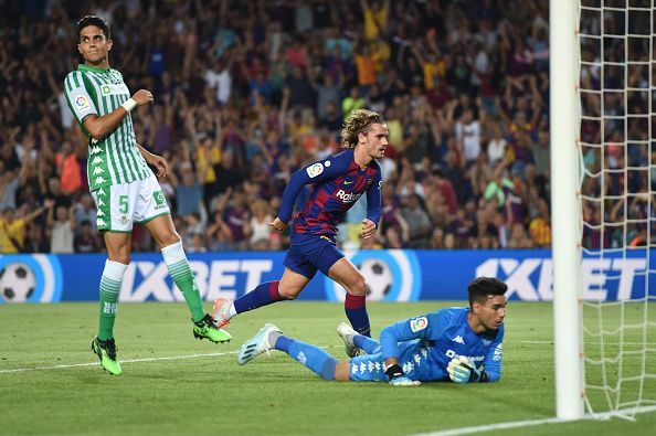 Antoine Griezmann was on fire for the Catalans