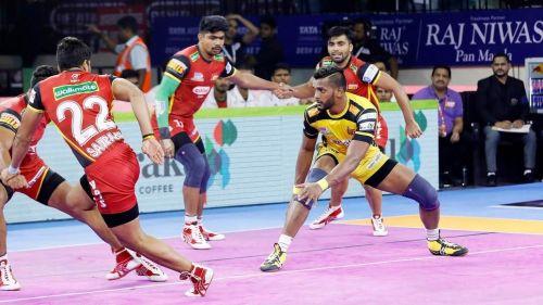 Siddharth Desai registered a Super 10 against Bengaluru Bulls