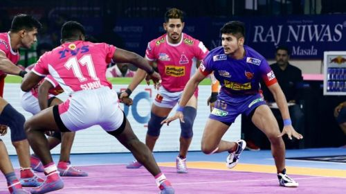 Naveen Goyat has scored 53 raid points in five matches for Dabang Delhi K.C.