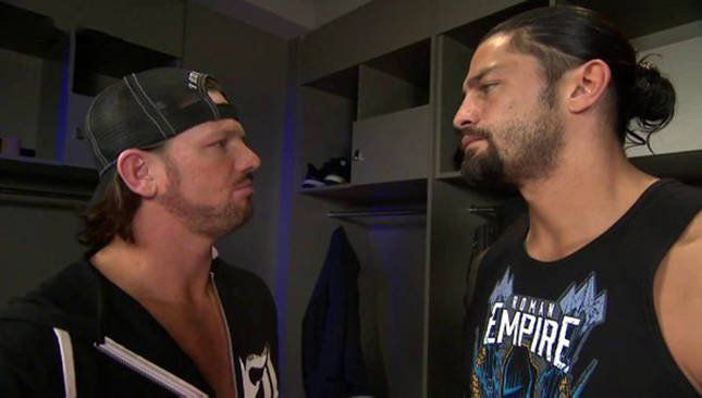 AJ Styles and Roman Reigns
