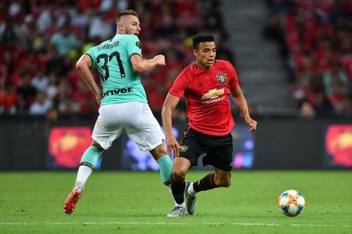 Greenwood has a deadly left foot and close-control as Škriniar found out in this pre-season fixture