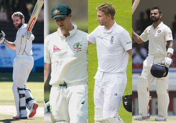 FAB FOUR of Modern Era (R TO L) Kane Williamson, Steve Smith, Joe Root, Virat Kohli