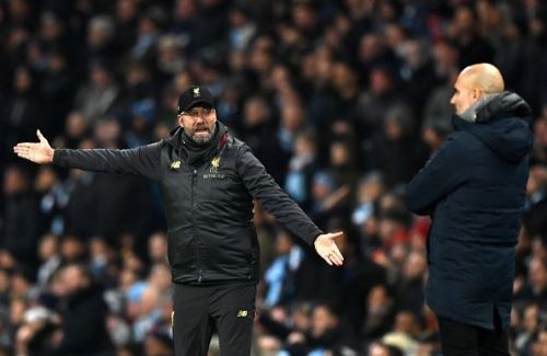 Jurgen Klopp's Liverpool are set to lock horns with Pep Guardiola's Manchester City