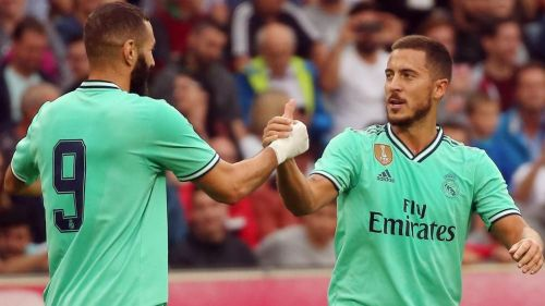 Eden Hazard and Benzema combined for the only goal of the night