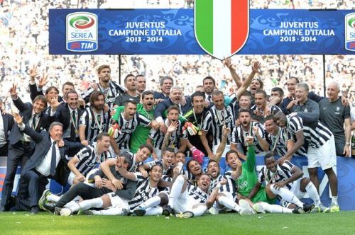 Juventus lifted their 30th Serie A title in 2013-14