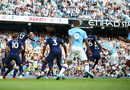 Aymeric Laporte's unintentional handball saw Manchester City's decider being disallowed