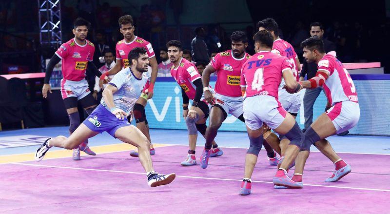 Pro Kabaddi 2019 HIGHLIGHTS, Tamil Thalaivas vs Jaipur Pink Panthers in Chennai: Jaipur Beat Tamil 28-26