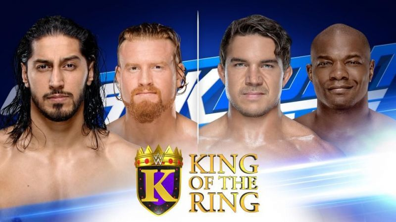 Who will progress from the final two King Of The Ring matches?