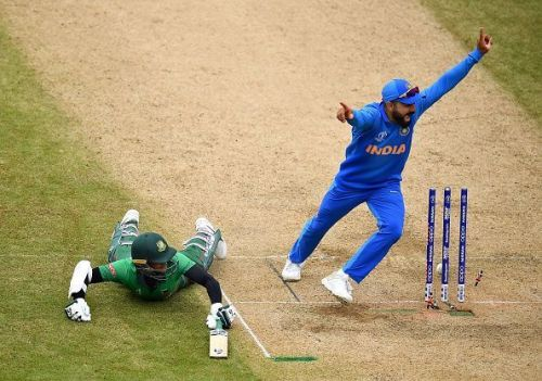 Kohli displaying his passion for the game