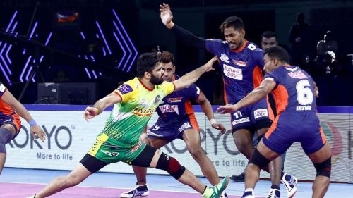 Pardeep Narwal picked up a Super 10 from the game