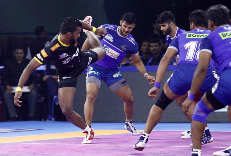 Siddharth Desai was brilliant for Telugu Titans with 18 raid points in the win over Haryana