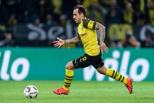 Alcacer opened the scoring for Borussia Dortmund
