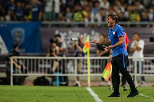 An animated Conte on the touchline will be a familiar sight for many