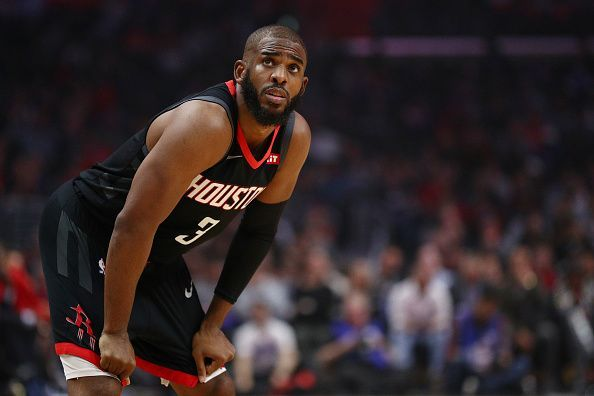 Chris Paul joined the Thunder from the Houston Rockets