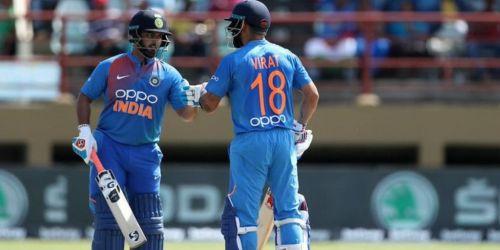 तीसरे टी20 मैच के दौरान कप्तान विराट कोहली और ऋषभ पंत