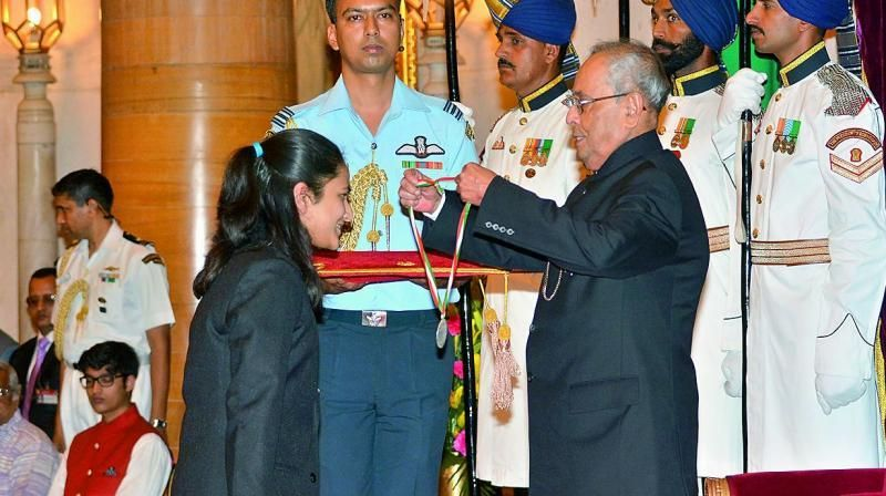 Awarded with the National Child Award by the former President of India. Source: Deccan Chronicle
