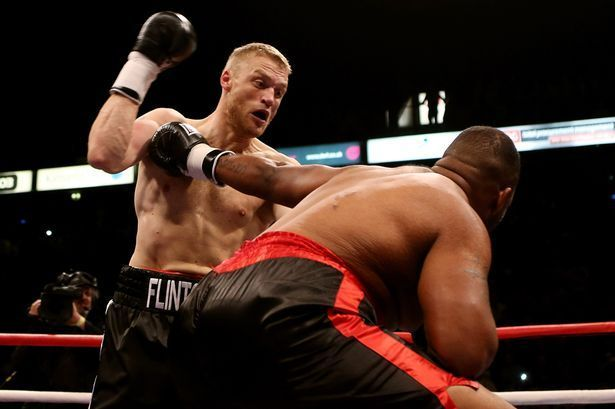 Andrew Flintoff and his boxing ambitions in 2012