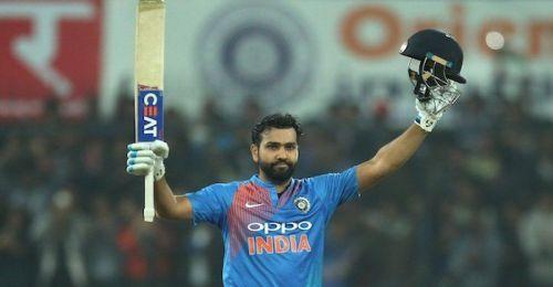 Rohit has four T20I centuries