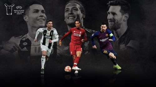 One of Messi, Ronaldo and Van Dijk will be crowned as the UEFA Men's best player 2019. (Image Courtesy: UEFA.com)